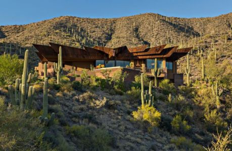 vue d'ensemble site - desert-residence par Shelby Wilson - Arizona, USA