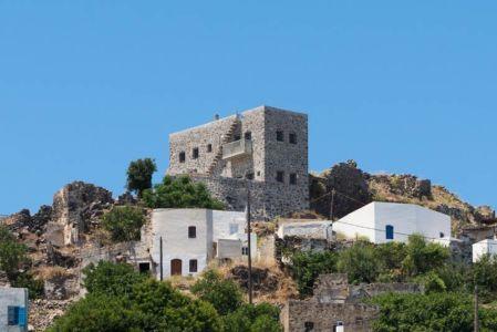 vue d'ensemble site d'habitation - sterna-residence par Giorgos Tsironis and Greg Haji Joannides - Nisyros, Grèce