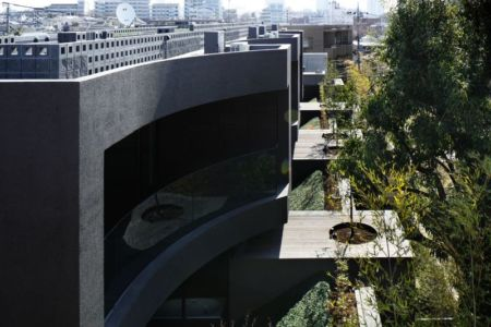 vue d'ensemble site - maison-urbaine par Artechnic - Japon
