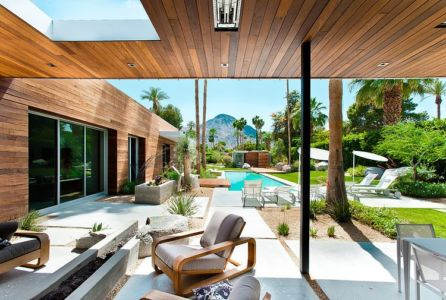vue d'ensemble terrasse - F-5 Residence par Studio AR+D Architects - Indian Wells, Usa