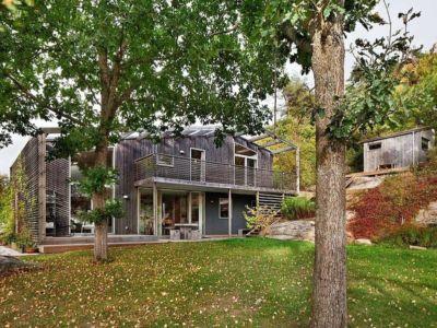 vue du jardin - Green Bean House par Arctic Studio - Onsala, Suède