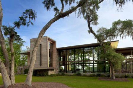 vue du jardin - SC Modern I par SBCH Architects - Bray's Island, Sheldon, Usa