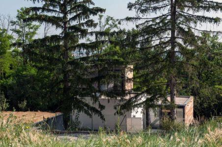 vue du jardin - maison Pegasus par Saint-Cricq architecte - Toulouse, France
