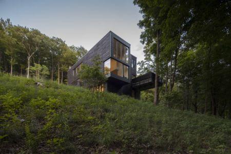vue en contrebas - Red Rock House par Anmahian Winton Architects - Red Rock, Usa