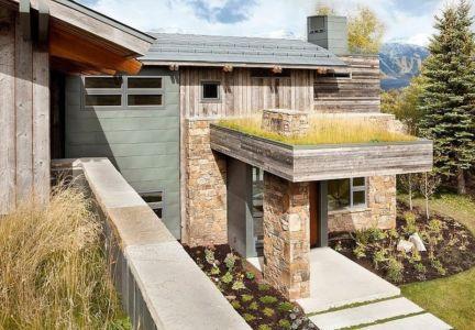 vue entrée - Contemporary Western par Hoyt Architects & CTA Group - Usa