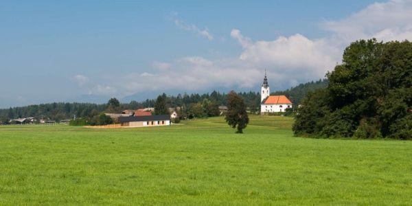 vue environnement - Maison bois par BIRO GASPERIC - Velesovo, Slovenia