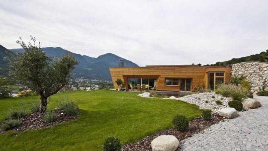 vue extérieure - Brunner House par Norbert Dalsass - Italie