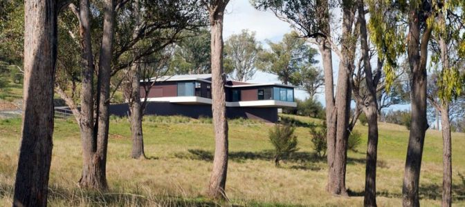 vue extérieure - High Country House par Luigi Rosselli Architects - Armidale, Australie