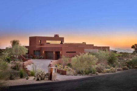 vue extérieure - Kim Residence par Tate Studio Architects - Scottsdale, Usa