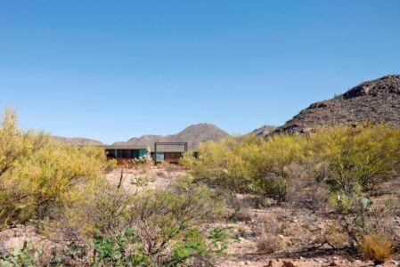 vue extérieure - Levin Residence par Ibarra Rosano Design Architects - Marana, Usa