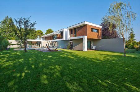 vue extérieure - Maison contemporaine par Hybre-architecte - Gradignan - photo Philippe Caume