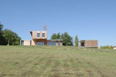 vue extérieure - Maison l'Estelle par François Primault architecte - Moirax, France