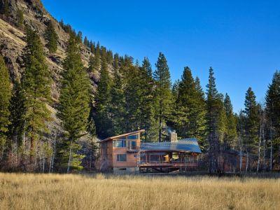vue extérieure - Mazama House par FINNE Architects - Methow Valley, Usa