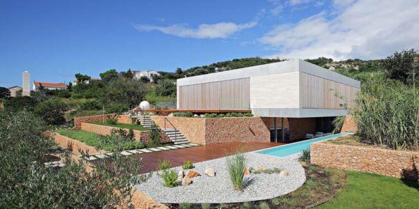 vue extérieure - Olive House par LOG-URBIS - Pag, Croatie