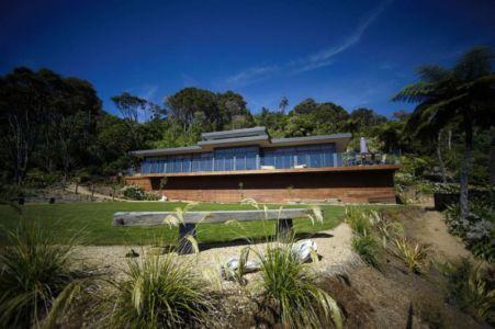 vue extérieure - Porotu Bach par studio MWA - Miritu Bay, New Zealand
