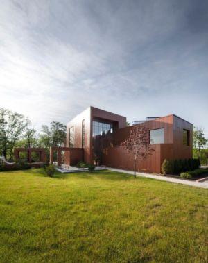 vue extérieure - Terre et Eau par Blouin Tardif Architecture - Rigaud, Canada