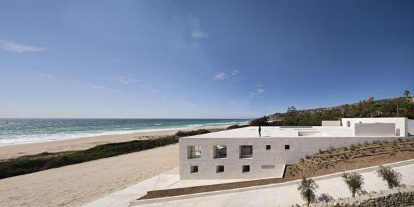 vue extérieure côté - Casa del Infinito par  Alberto Campo Baeza - Cadix, Espagne - photo Javier Callejas Sevilla