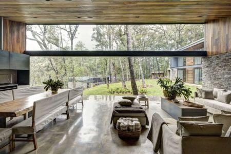 vue extérieure de la pièce de vie - Casa MM par Elías Rizo Arquitectos - Mexique