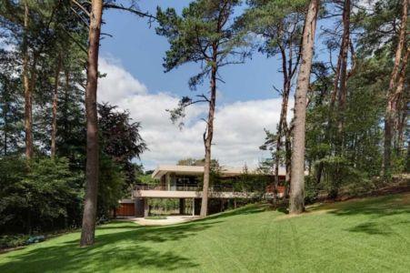 vue extérieure du jardin - The Dune Villa par HILBERINKBOSCH Architects - Utrecht, Pays-Bas