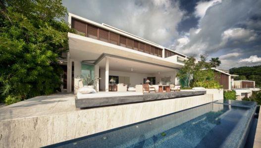 vue extérieure façade piscine - Villas Finestre par CC ARQUITECTOS - Mexique - Photo Rafael Gamo & Yoshihiro Koitani
