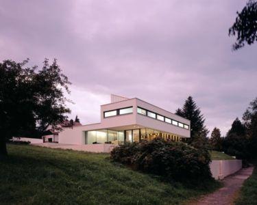 vue extérieure nuit - House Philipp par Philipp Architekten - Waldenburg, Allemagne