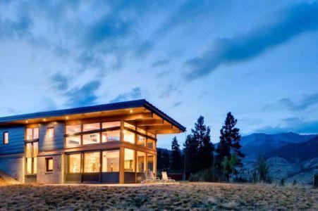 vue extérieure nuit - Nahahum Canyon House par Balance Associates - Nahahum Canyon, Usa