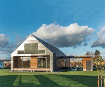 vue extérieure plein sud - La Casa de Libre Mantenimiento par Arkitema Architects  - Danemark