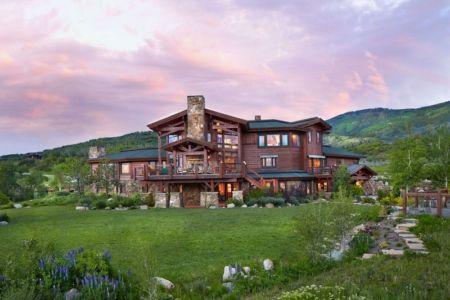 vue extérieure - ranch contemporain en bois par Joe Robbins - Steamboat Spring, Usa