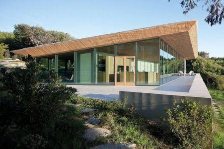 vue extérieure terrasse - Alon House par AABE et Partners -France