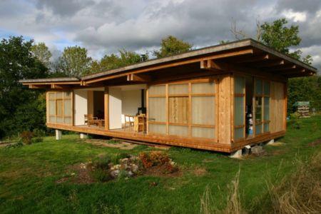 vue extérieure terrasse salon - Maison dans la prairie par Arba - Montreuil, France