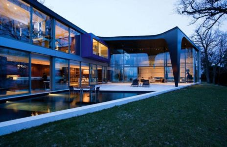 vue extérieure terrasse - villa afro-européenne par Saota - Genève, Suisse