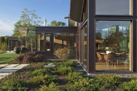 vue façade extérieure - Illinois residence par Dirk Denison architects - Usa