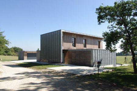 vue façade nord - Maison l'Estelle par François Primault architecte - Moirax, France