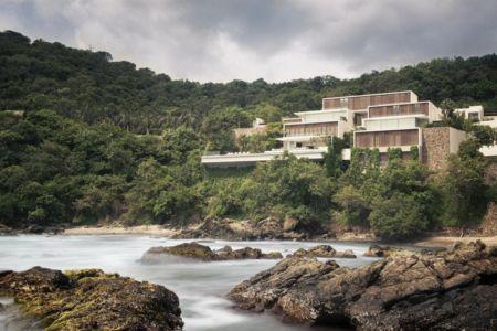 vue façade terrasse et mer - Villas Finestre par CC ARQUITECTOS - Mexique - Photo Rafael Gamo & Yoshihiro Koitani