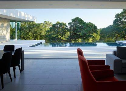 vue façade terrasse & piscine - Vineyards-Residence par Swatt Miers Architects - Californie, USA