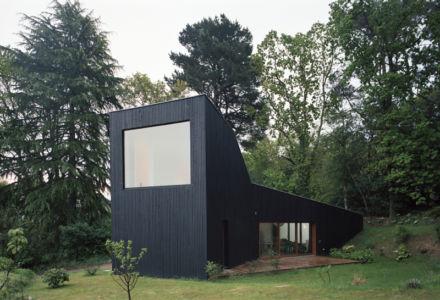 vue générale - maison bois secondaire par RAUM -France - Photos - Audrey Cerdan