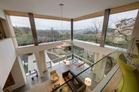 vue intérieure depuis mezzanine - City View Residence par Dick Clark Architecture - Austin, Usa