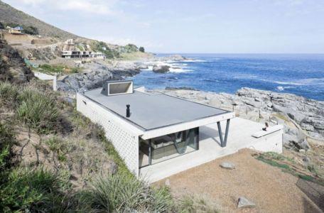 vue océan - Rambla House par LAND Arquitectos - Zapallar, Chili