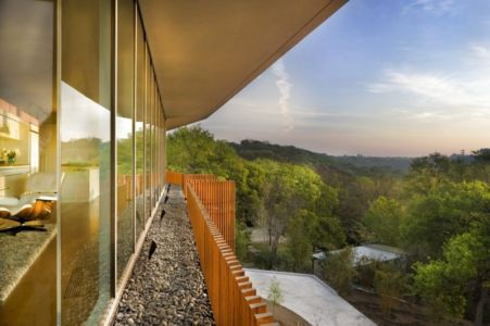 vue panoramique - East Windsor Residence par Alterstudio - Austin, Usa - Photo Paul Finkel