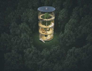 vue panoramique - Glass-House par Aibek-Almassov - Kazakhstan