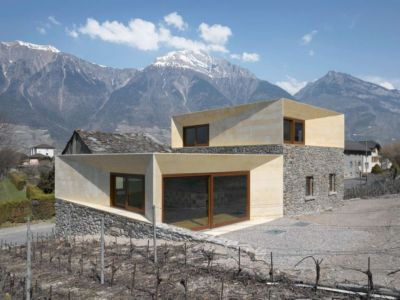 vue panoramique - House-transformation par clavienrossier architects - Suisse