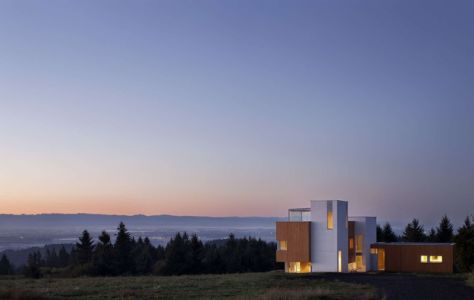 vue panoramique - Karuna House par Holst Architecture - Newberg, OR, Usa