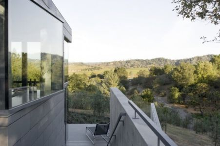 vue panoramique - Maison contemporaine béton par Cooper Joseph Studio - Sonoma, Usa