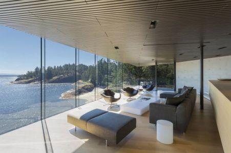 vue panoramique - Tula House par Patkau Architects - Quadra Island, Canada