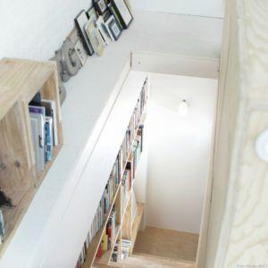 vue panoramique bibliothèque - Saganaki House par BUMParchitectes, France