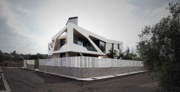 vue panoramique côté - Paradox house par Klab architecture - Athènes, Grèce