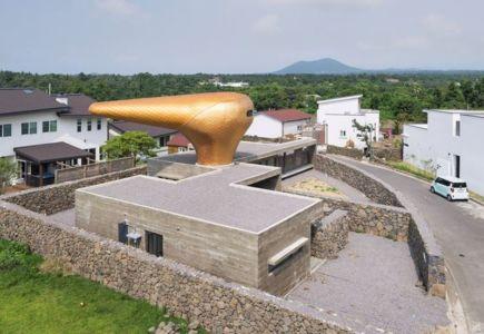 vue panoramique dôme fleur d'or - Wind-House par Moonbalsso - Jesu Island, Corée du Sud