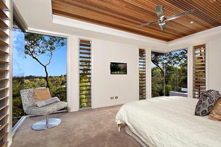 vue panoramique depuis chambre - Treetops Residence par Artas Architects & D Pearce Constructions - Toowong, Australie