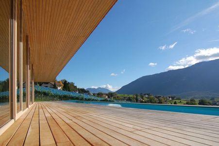 vue panoramique depuis la terrasse - Schaan Residence par K_M Architektur - Liechtenstein