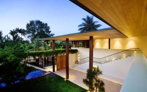 vue panoramique façade jardin & terrasse - Tangga House par Guz Architects - Bukit Timah, Singapour